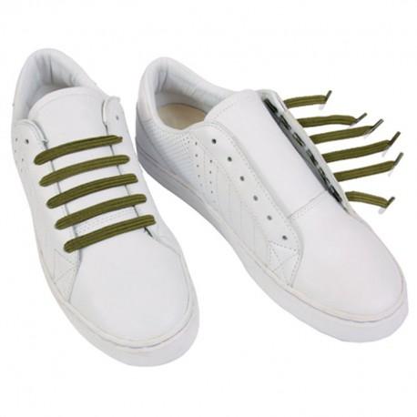 Classic Army Green Lacets élastiques kaki