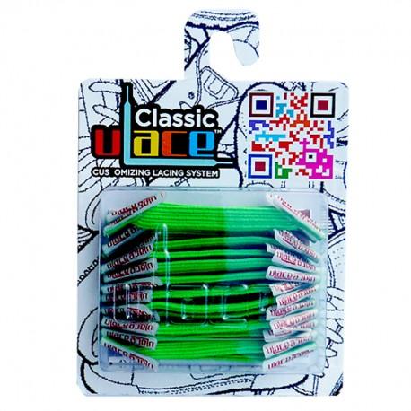 U-Lace classic Neon Green lacets élastiques plats