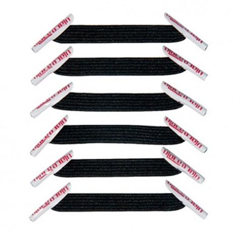 U-Lace mix and match Black lacets élastiques de couleur noire