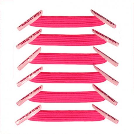 U-Lace mix and match Neon Pink lacets élastiques de couleur