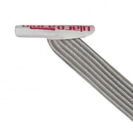U-Lace mix and match Metallic Silver lacets élastiques de couleur gris argenté