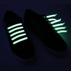 Mix & Match Glow in The Dark Lacets élastiques phosphorescents