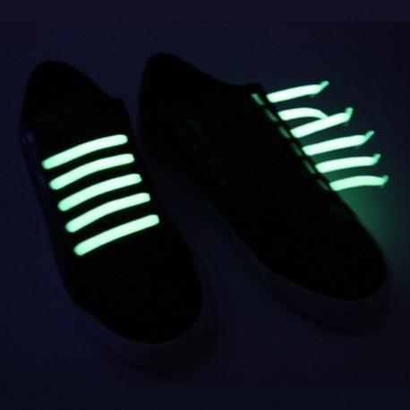 U-Lace mix and match Glow in the dark  lacets élastiques de couleur phosphorescents la nuit