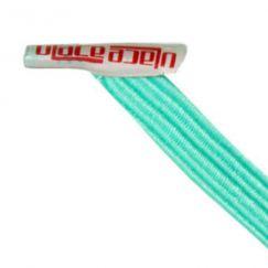 U-Lace mix and match Sea Foam Blue lacets élastiques de couleur vert pâle