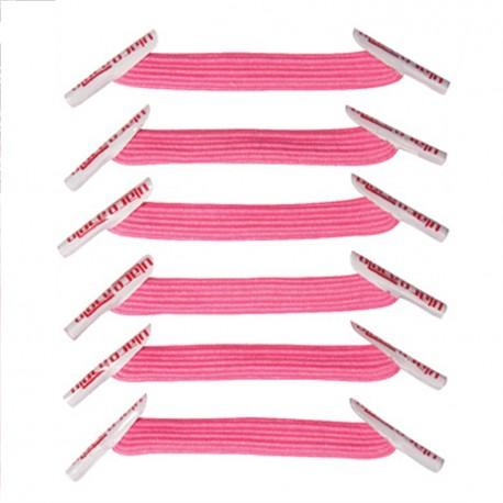 achat de lacets lastiques de couleur rose chewing gum sur u. Black Bedroom Furniture Sets. Home Design Ideas