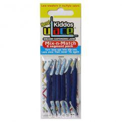 Kiddos Royal Blue Lacets élastiques bleus Enfant
