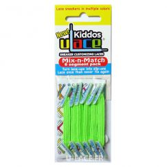 Kiddos Bright Green Lacets élastiques vert fluo flashy Enfant