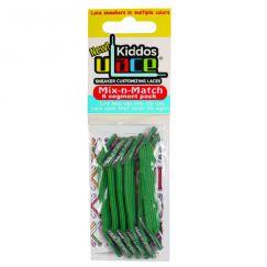 Kiddos Kelly Green Lacets élastiques verts Enfant