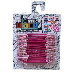 Classic Neon Magenta Lacets élastiques fushia fluo