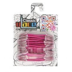 Classic Hot Pink Lacets élastiques rose foncé