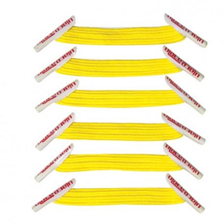 U-Lace mix and match Yellow lacets élastiques de couleur