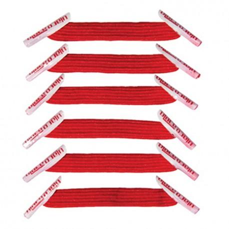 U-Lace mix and match SCARLET lacets élastiques de couleur