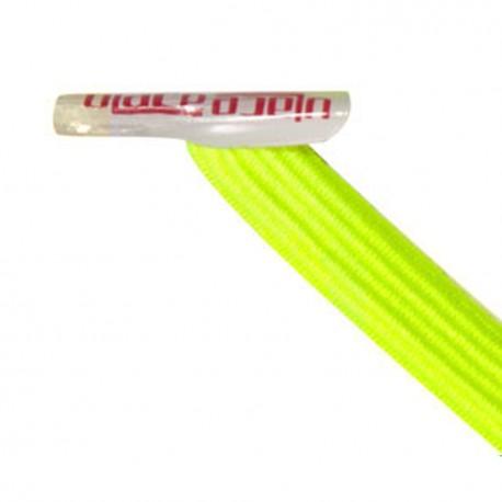 U-Lace mix and match Black lacets élastiques de couleur jaune fluo