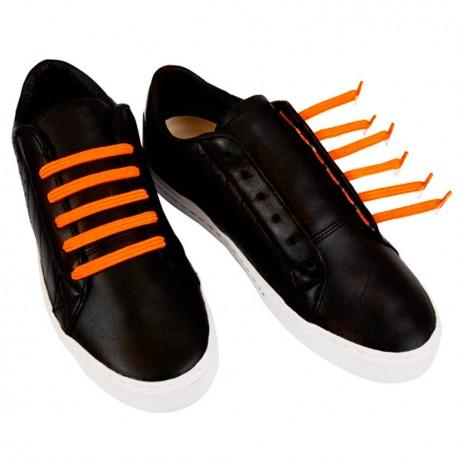 U-Lace mix and match Neon Orange lacets élastiques de couleur orange fluo