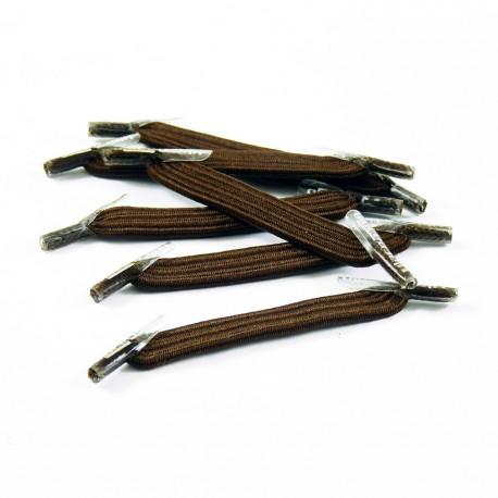 U-Lace mix and match Brown lacets élastiques de couleur marron