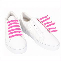 Kiddos Shocking Pink Lacets élastiques rose fluo Enfant