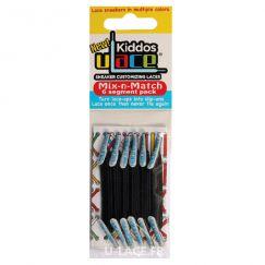 Kiddos Black Lacets élastiques noirs Enfant