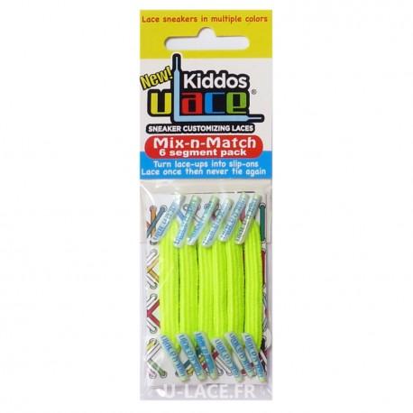 Kiddos Neon Yellow Lacets élastiques jaune fluo Enfant