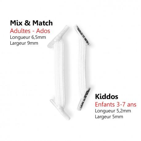 Kiddos White Lacets élastiques blancs Enfant