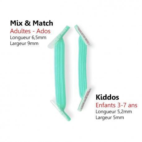 Kiddos Sea Foam Lacets élastiques vert pâle Enfant
