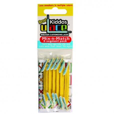 Kiddos Black Lacets élastiques verts Enfant
