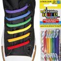 Kiddos Rainbow Lacets élastiques Enfants rouge,orange,jaune, verts ,bleu, violet